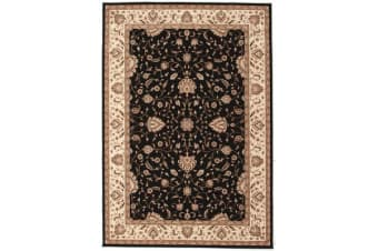Stunning Formal Classic Design Rug Black
