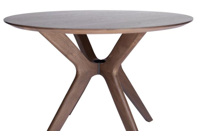 Doreen Collection | Wood Round Dining Table | Walnut | 100cm