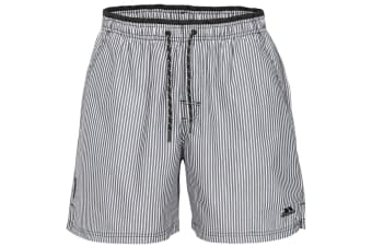 Trespass Mens Diran Summer Shorts (Black Stripe) (S)