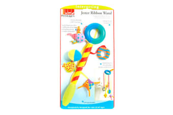 Petstages Jester Ribbon Cat Toy Wand (Multicoloured) (One Size)
