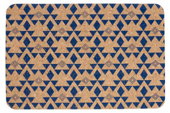 Ladelle Arise Printed Cork Placemat Set of 4 Navy