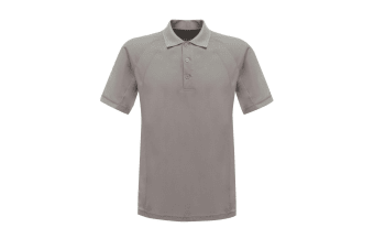 Regatta Professional Mens Coolweave Short Sleeve Polo Shirt (Silver Grey)