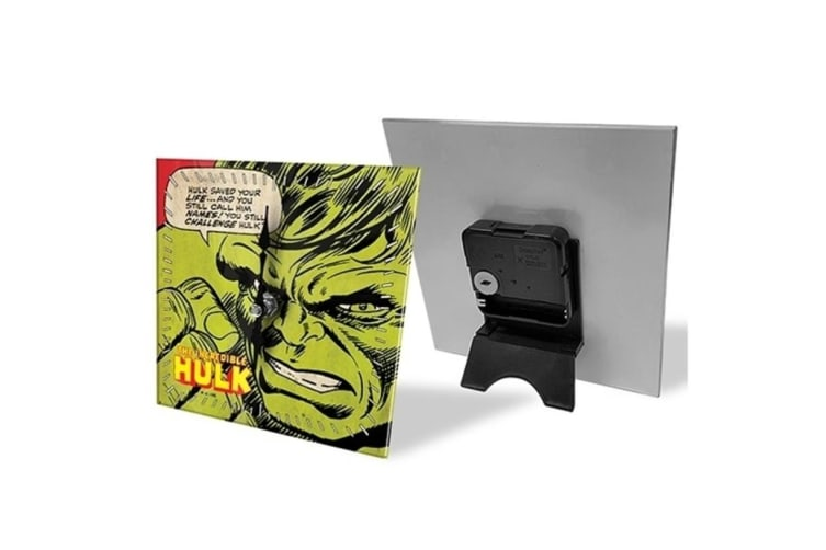 3PK Hulk Analogue Glass Desk Clock Analog Display Character Table Home Decor GRN