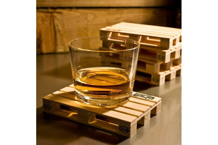 Mini Wooden Pallet Coasters – Set Of 4