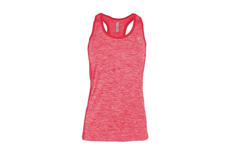 Under Armour Women's UA Tech Color Block Tank (Heather Pink, Size L)