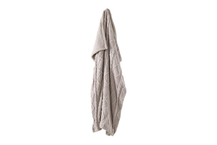 Bianca Darlington Chenille Throw Rug (Taupe)