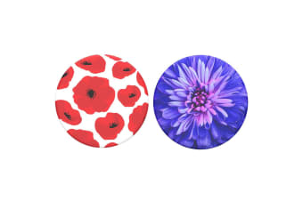 2pc PopSockets Be A Dahlia/Scandi Poppies Swappable Top for Pop Socket Base Grip