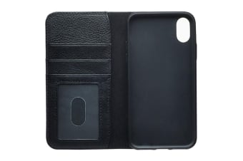 Cygnett CitiWallet Leather Case for iPhone XR - Black (CY2622WALCI)