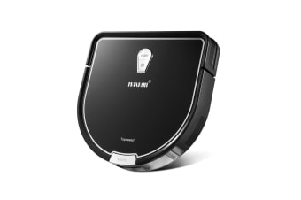Maxkon D Shape Sound Purification Smart Robot Vacuum cleaner - Black
