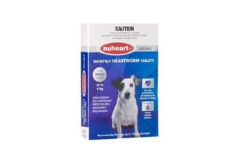 Nuheart Heartworm Tablets for Small Dogs up to 11kg - Blue (6 Pack) Generic Tabs