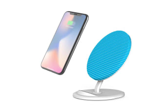 QI Wireless Charger For iPhone 11 For Samsung Galaxy S10+ S10e Note 10+ Blue Dot