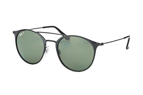 Ray-Ban RB3546 - Black (Crystal Green Polarised lens) / 49--20--145 Unisex Sunglasses