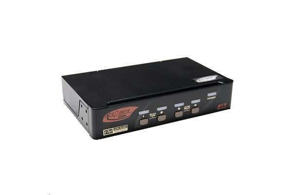 Rextron PAAG-114 4 Port DisplayPort USB KVM  with Audio Cables Purchased Seperately
