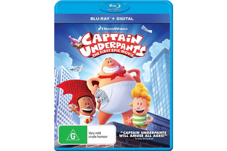 Captain Underpants The First Epic Movie Blu-ray Region B