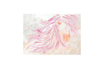 Deckled Edge A4 Watercolour Art Print (Sunset Mare)