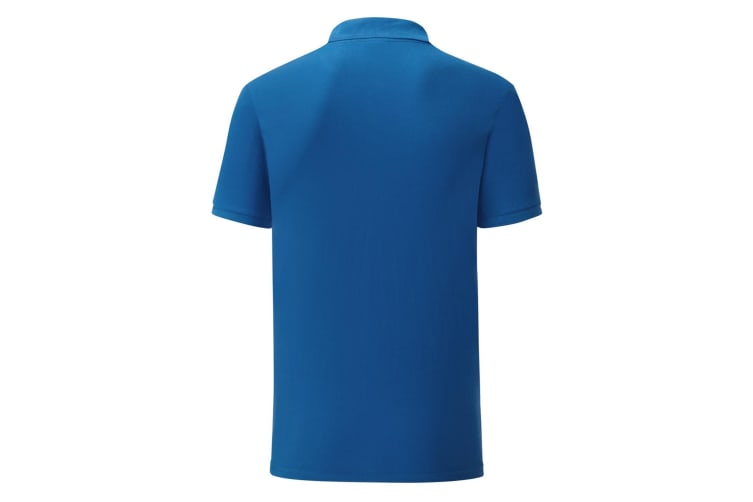 Fruit Of The Loom Mens Tailored Poly/Cotton Piqu Polo Shirt (Royal Blue) (M)