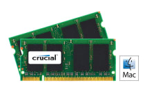 Crucial 4GB Kit (2GBx2) DDR2 800MHz (PC2-6400) CL6 SODIMM 200 Pin for Mac