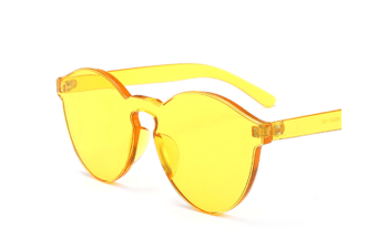 Fashion Retro Candy Color Transparent Frameless Cat Eye Sunglasses