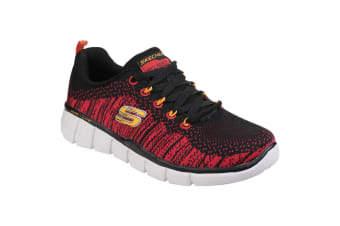 Skechers Childrens/Boys Equalizer 2.0 Perfect Game Memory Foam Lace Up Trainers (Black/Red) (12 Child UK)