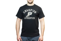 Champion Men's Graphic Jersey Tee - Black/Mountain Road