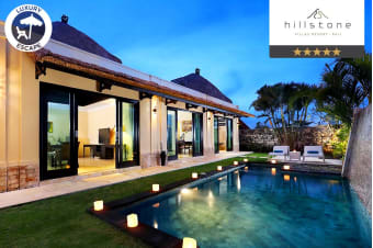 BALI: 3, 5 or 7 Nights at Hillstone Uluwatu Villa For Two