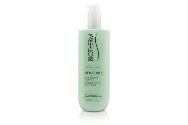 Biotherm Biosource Purifying & Make-Up Removing Milk - For Normal/Combination Skin (400ml/13.52oz)