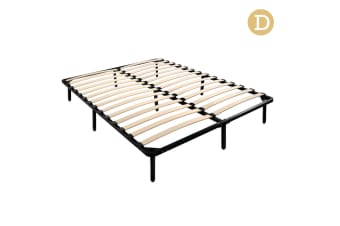 Double Metal Bed Base Frame (Black)