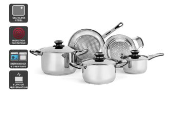 Ovela 8 Piece Stainless Steel Cookware Set