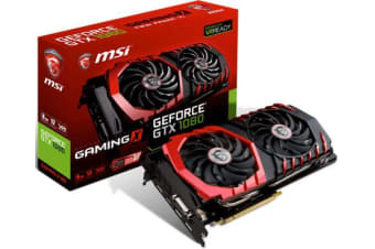 MSI NVIDIA GTX 1080 GAMING X 8GB Video Card - GDDR5,3xDP/HDMI/DVI SLI VR Ready 1607/1847MHz