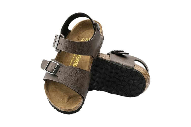 Birkenstock New York Kids BF Pull Up Sandal (Brown, Size 26 EU)