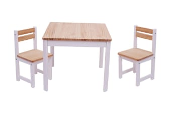 TikkTokk Envy Square Table & Chairs Set - White