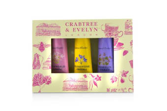 Crabtree & Evelyn Heritage Hand Therapy Set (1x Old World Jasmine  1x Florentine Freesia  1x Venitian Violet) 3x25g/0.9oz