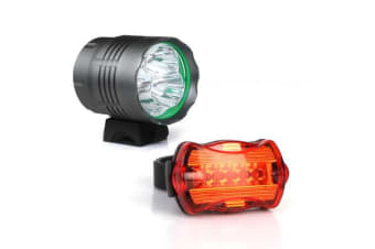 WEISSHORN 50000LM Bike Bicycle light LED Headlamp Front Rear light Flashlight