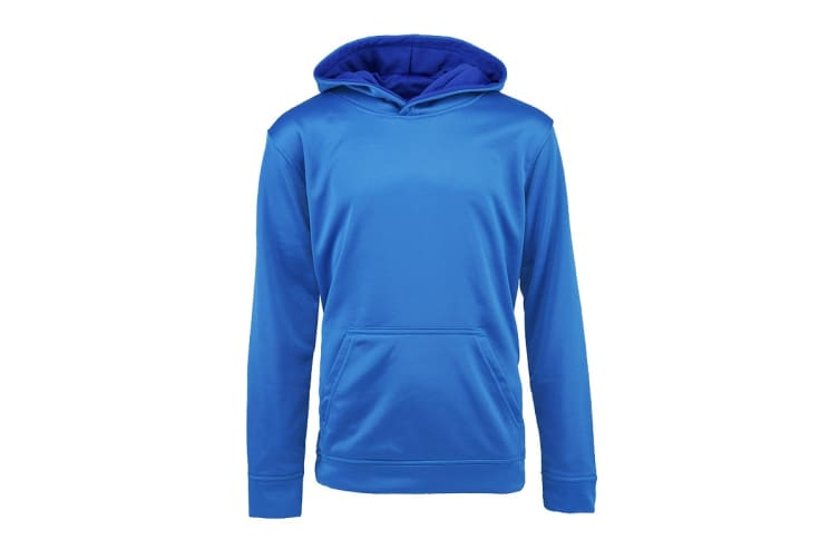Champion Boys' Solid Performance Pullover Hoodie (Steel Blue, Size M)