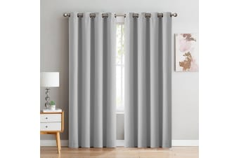 DreamZ Blockout Curtain Blackout Curtains Eyelet Room 102x213cm Grey
