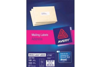 AVERY L7162-100 Address Labels