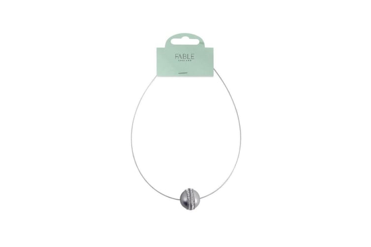 Fable Womens/Ladies Ball Necklace (Silver) (One Size)