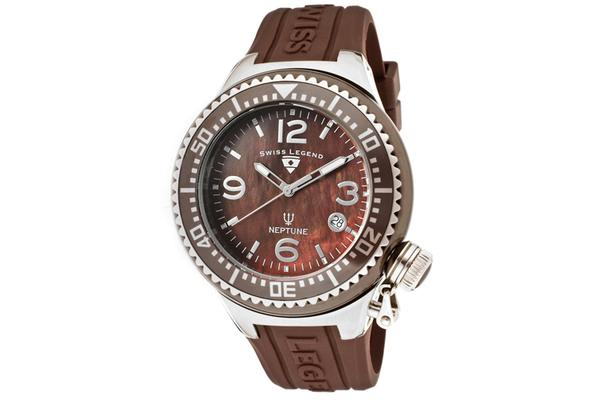 Swiss Legend Women's Neptune Ceramic (SL-11844-BRWSA)