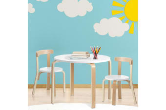 Artiss 3PCS Set Kids Table and Chairs Toys Play Desk Children Furniture Wooden