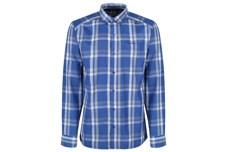 Regatta Mens Mindano Checked Long Sleeve Shirt Oxford Blue M Kogan Com