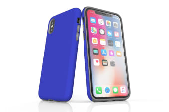 Blue For iPhone XS Max Tough Case  Protective Back Cover