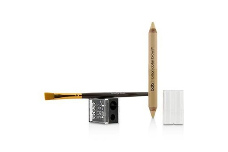Billion Dollar Brows 60 Seconds to Contoured Brows Kit (1x Brow Duo Pencil  1x Smudge Brush  1x Duo Sharpener) 3pcs