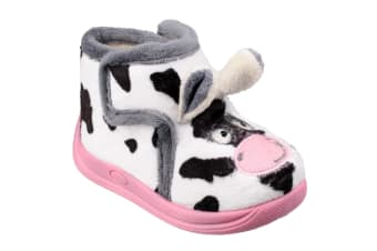 Mirak Childrens Kids Farm Animal Slippers (Cow) (28 EUR)