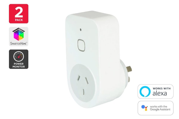 Kogan SmarterHome™ Smart Plug With Energy Meter - Pack of 2