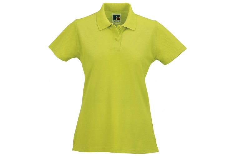 Russell Europe Womens/Ladies Classic Cotton Short Sleeve Polo Shirt (Lime) (2XL)
