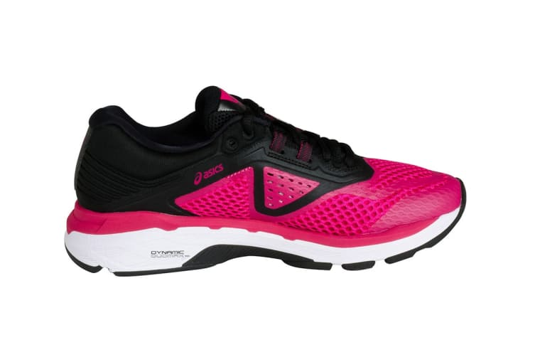 ASICS Women's GT-2000 6 Running Shoe (Bright Rose/Black/White, Size 7)