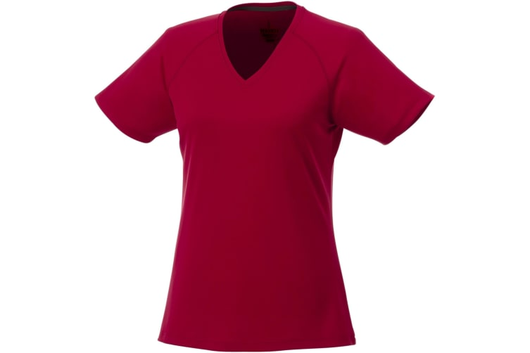 Elevate Womens/Ladies Amery Short Sleeve Cool Fit V-Neck T Shirt (Red) (S)