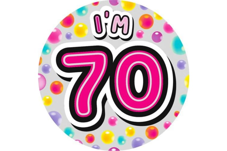 Expression Factory Giant Birthday Badge (Multicoloured) (12)