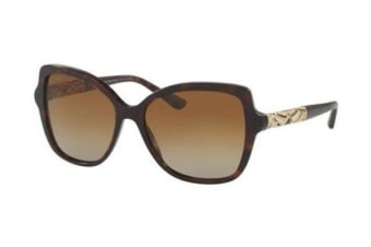 Bvlgari BV8174B 56mm - Dark Havana (Brown Gradient Polarised lens) Womens Sunglasses