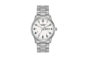 Citizen Men's Analog Quartz Watch with Day/Date SSWP WR50 - Stainless Steel (BF0610-91A)